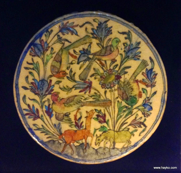 Iran-Persia-Hand-Painted-Pottery-Glazed-Ceramic-Tile1